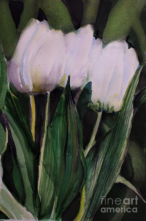 White Tulips by Mindy Newman