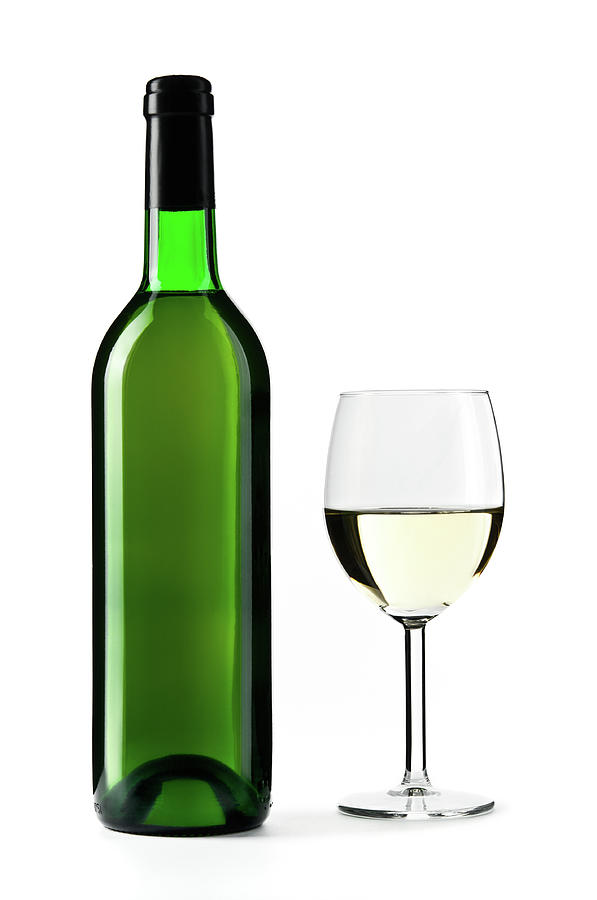 White Wine Bottle With Wine Glass Photograph by Domin domin