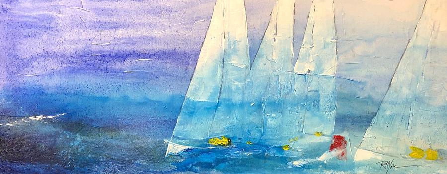 Sailing Painting - Whitecap by Robert Yonke