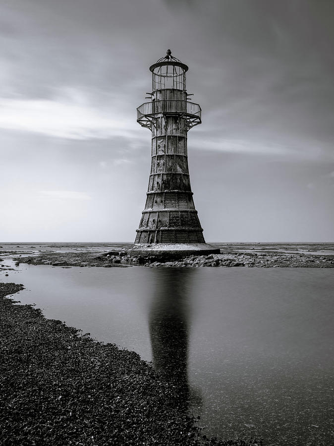 Whiteford Point Lighthouse Reflections Photograph