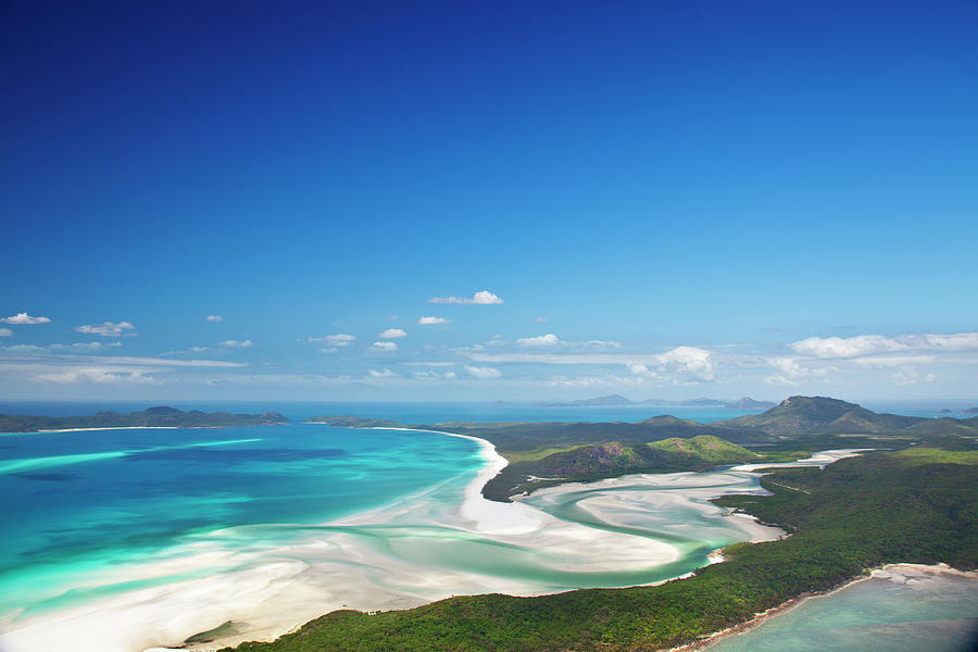 Whitehaven Beach And Hill Inlet Photograph by Aaron Foster