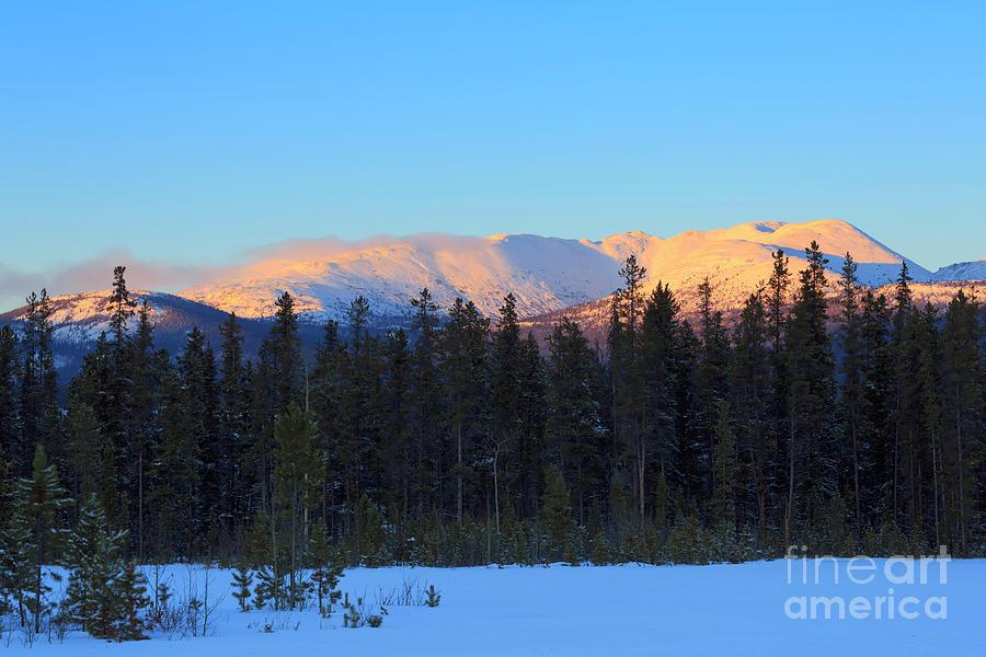Whitehorse winter sunset by Louise Heusinkveld