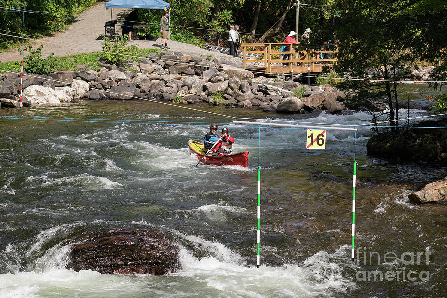Whitewater Canoe Slalom Race by Les Palenik