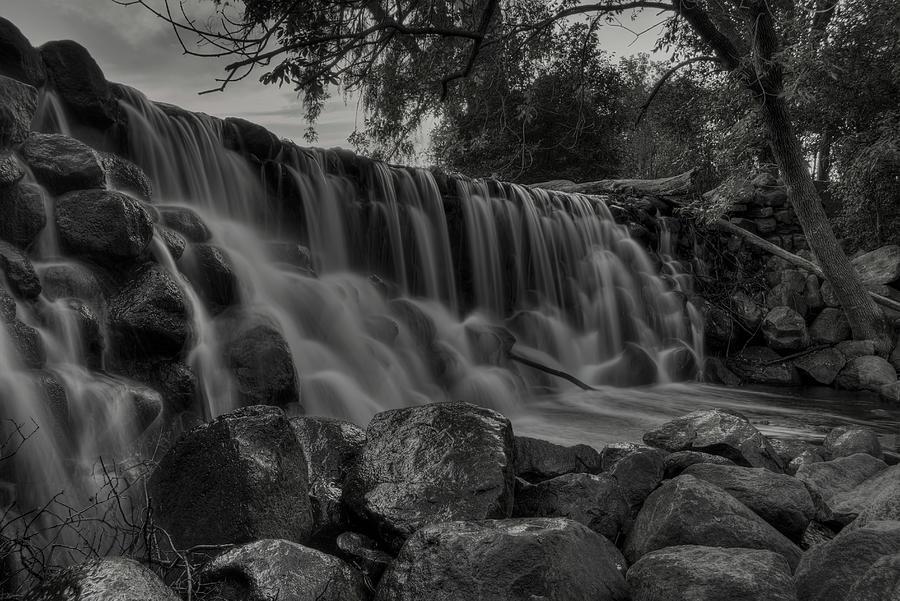 Whitnall Park Falls BW by Dale Kauzlaric