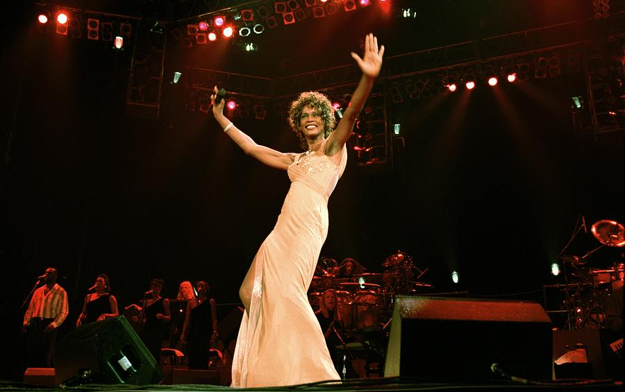 Whitney Houston Performing At Paris Photograph by Alain Benainous