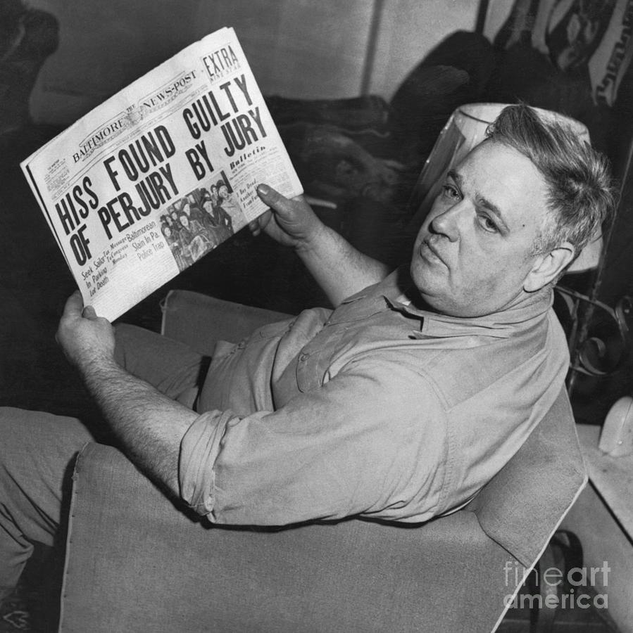 Whittaker Chambers Sitting Photograph by Bettmann