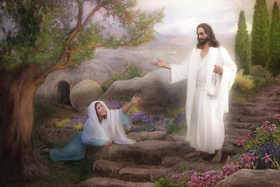 Jesus Painting - Whom Seekest Thou by Brent Borup