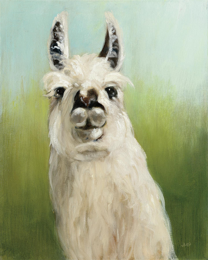 Animals Painting - Whos Your Llama I by Julia Purinton