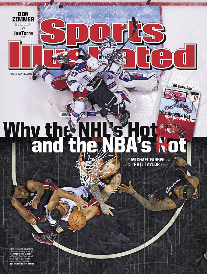 Why The Nhls Hot And The Nbas Hot Sports Illustrated Cover Photograph by Sports Illustrated