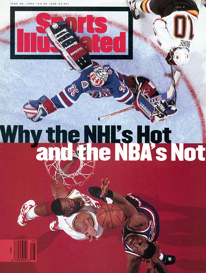 Why The Nhls Hot And The Nbas Not Sports Illustrated Cover Photograph by Sports Illustrated