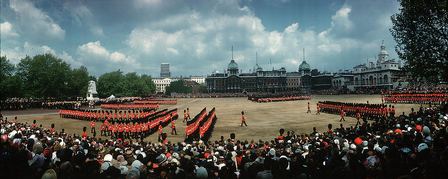 Wide Angle View Of Trooping Of The Photograph by Eliot Elisofon