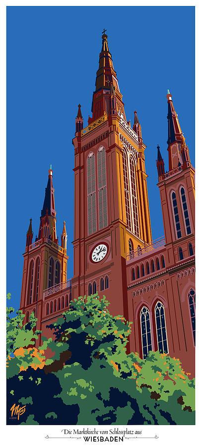 Wiesbaden Marktkirche  by Matt Hood