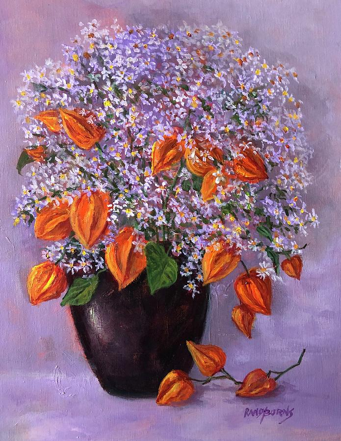 Wild Asters And Chinese Lanterns by Randy Burns