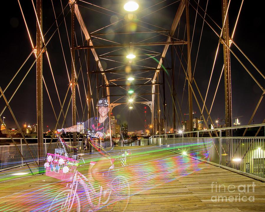 Wild Dawgs Rainbow at Hays Street Bridge #1 by Michael Tidwell
