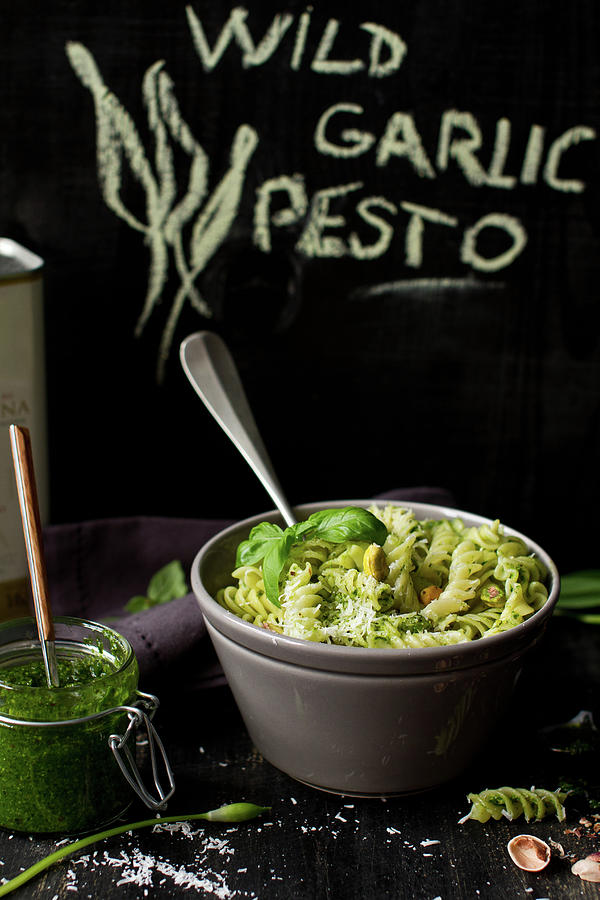 Wild Garlic Pesto Fusilli Photograph by Török-bognár Renáta