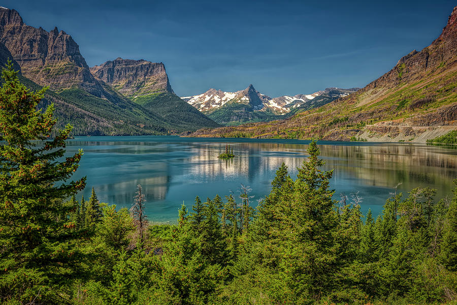 Wild Goose Island on Saint Mary Lake, Glacier National Park by Roderick Bley