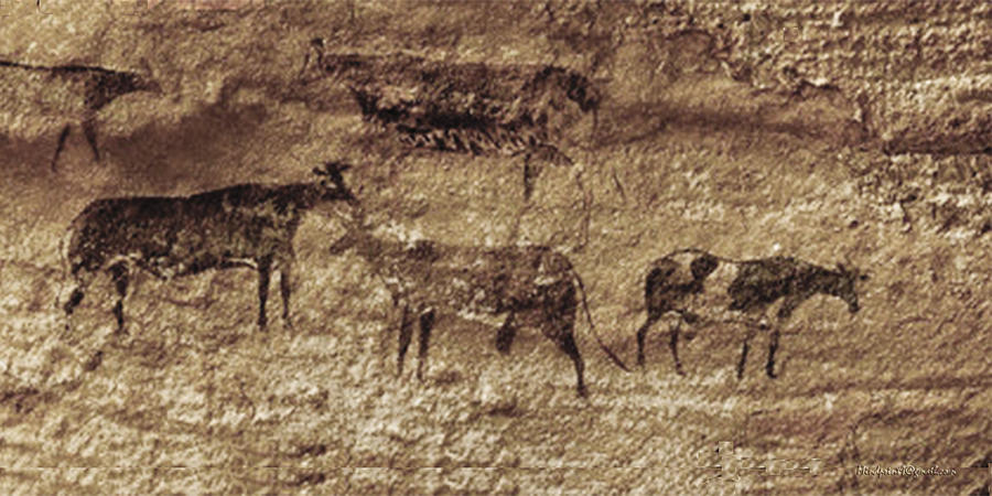 Wild Herds of Tassili-n-Ajjer  by Asok Mukhopadhyay