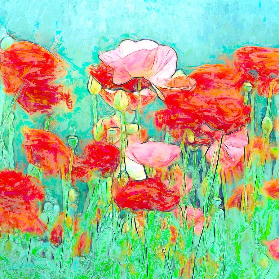 Wild Poppy Art Mixed Media