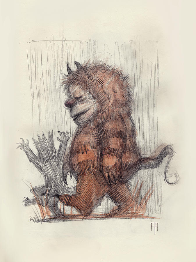 Where The Wild Things Are Drawing - Wild Things by Alex Ruiz