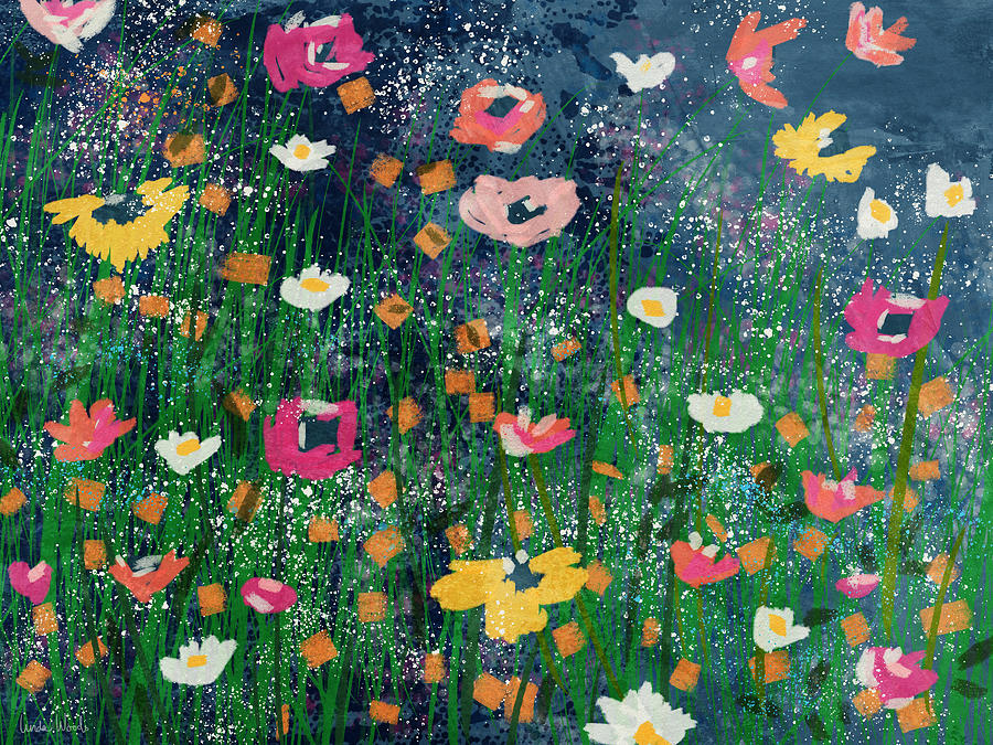 Flowers Mixed Media - Wildflowers 2- Art By Linda Woods by Linda Woods