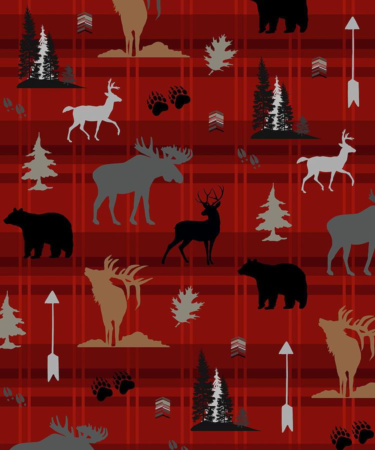 Animals Mixed Media - Wildlife Pattern 05 by Lightboxjournal