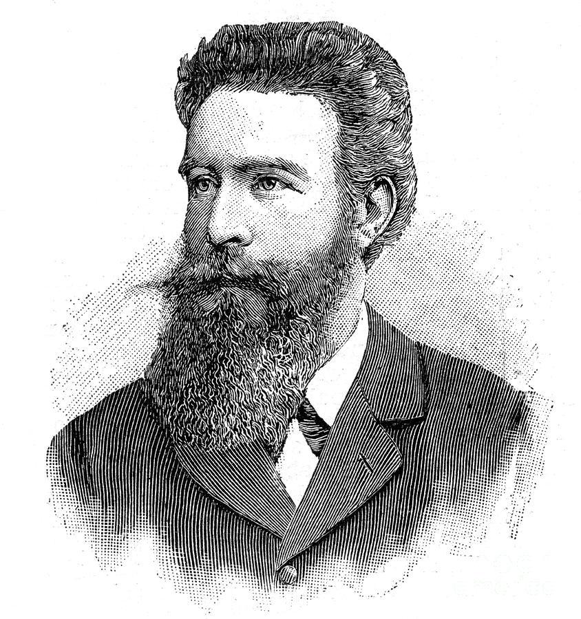 Wilhelm Konrad Von Rontgen, German Drawing by Print Collector