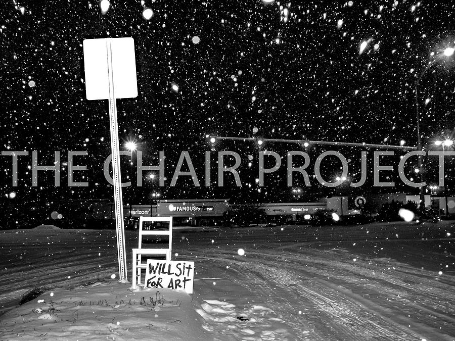 Chair Photograph - Will Sit for Art / The Chair Project by Dutch Bieber