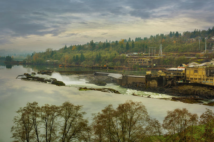 Willamette Falls in Oregon City by David Gn