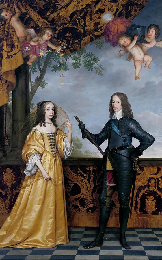 Painting Painting - Willem I I Prince Of Orange And Maria Stuart by Gerhard van Honthorset
