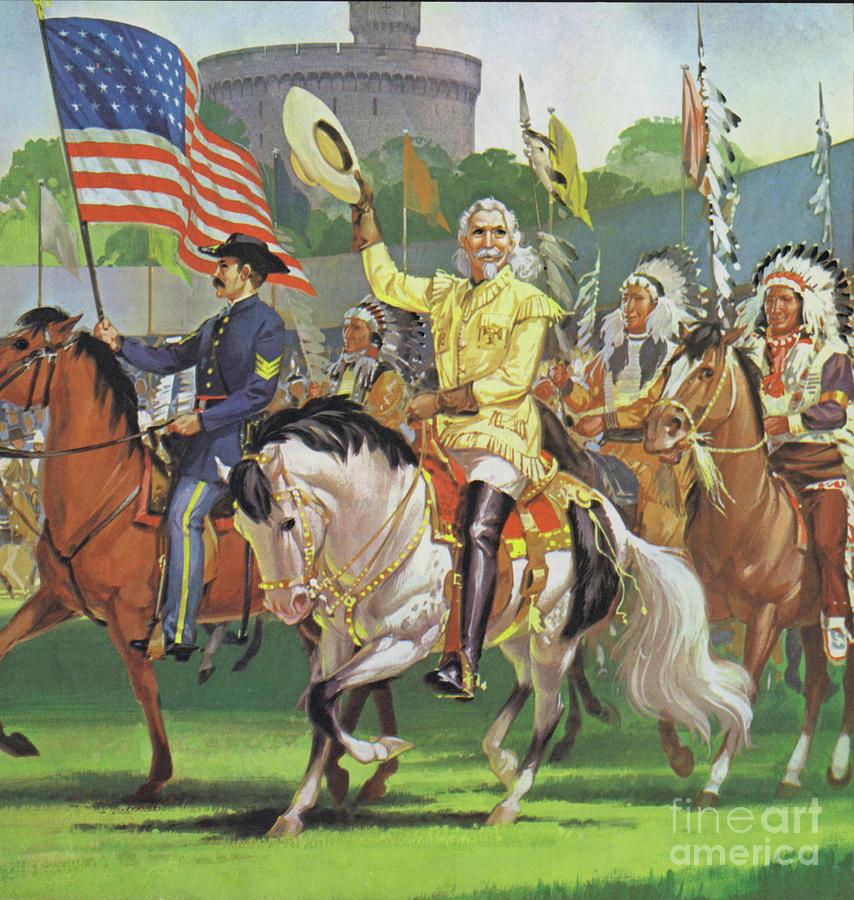 William Painting - William Cody, Buffalo Bill  by Angus McBride