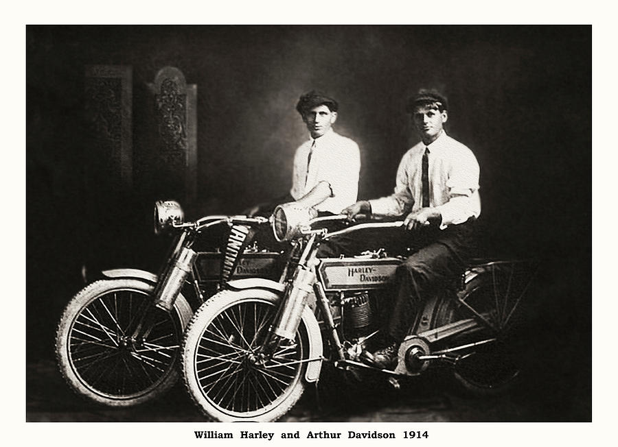 William Photograph - William Harley and Arthur Davidson 1914 by Bill Cannon