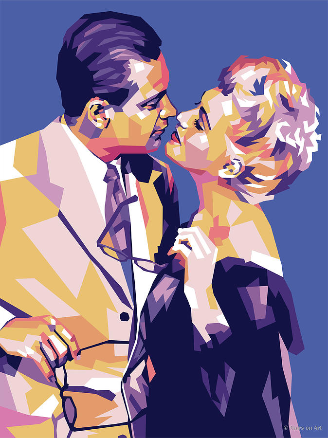 William Holden and Judy Holliday by Stars on Art