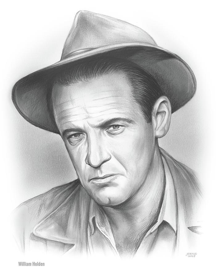 William Holden Drawing - William Holden by Greg Joens