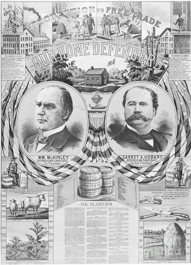 William Mckinley Election Poster Photograph by Bettmann