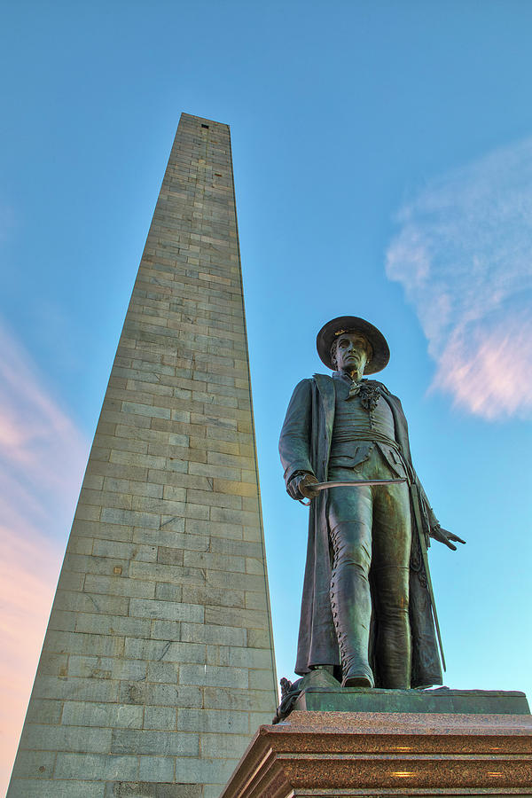 William Prescott and Bunker Hill Monument  by Juergen Roth