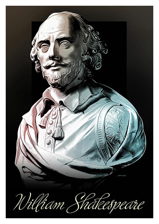 William Shakespeare Digital Art
