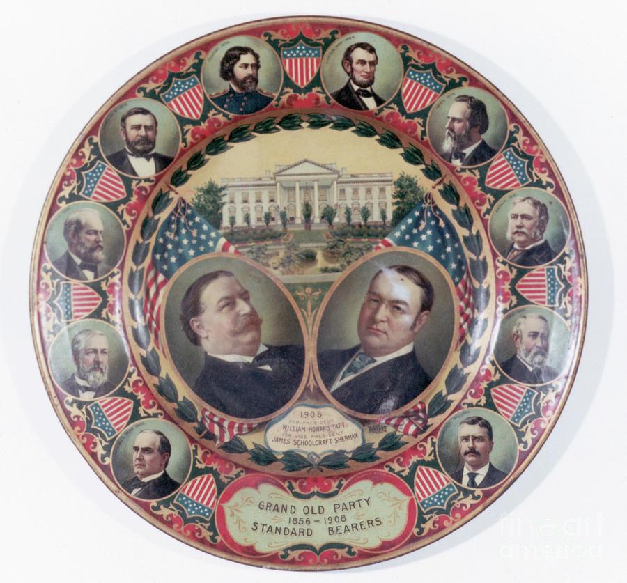 William-taft Election Souvenir Plate Photograph by Bettmann