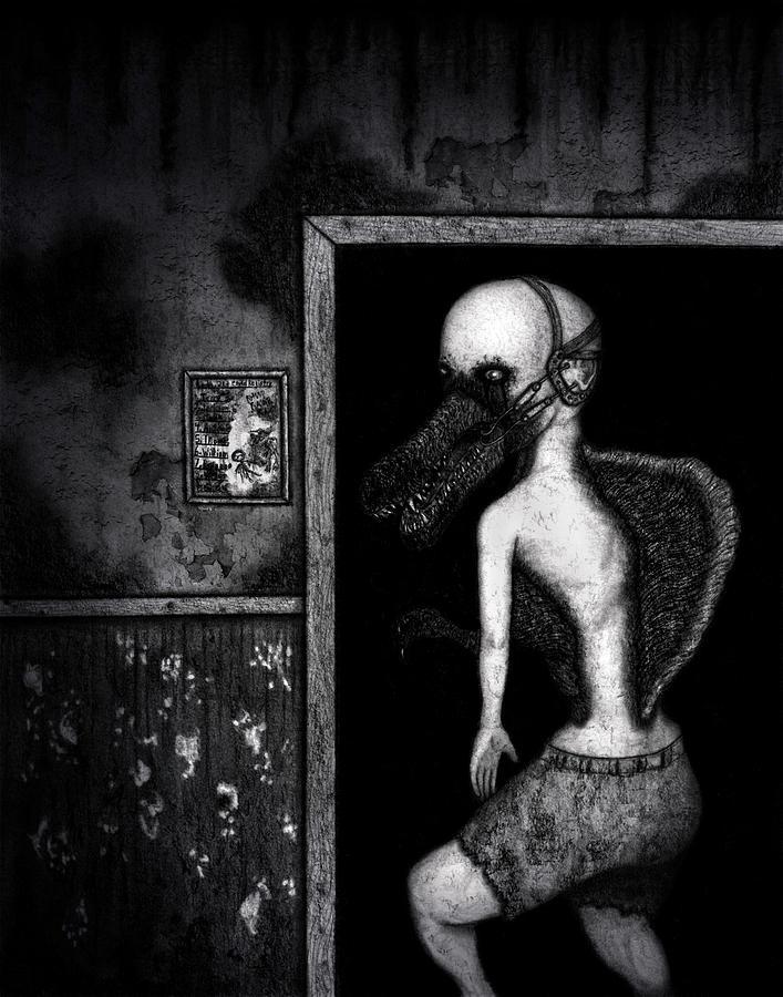Horror Drawing - William The Flesheater - Artwork by Ryan Nieves