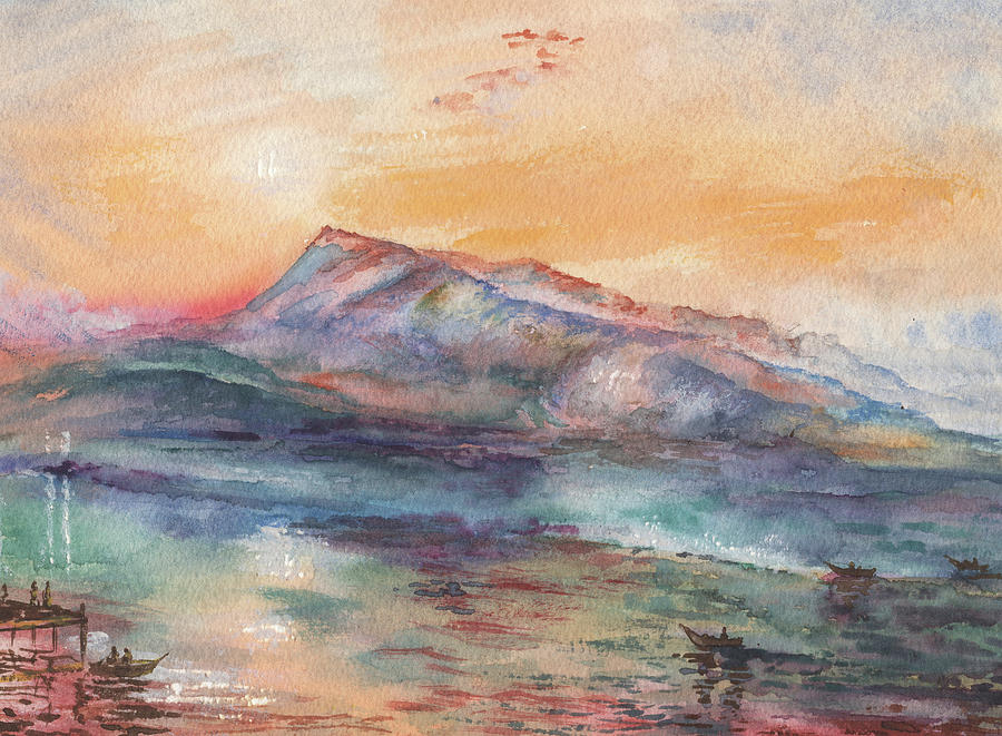 William Turner Mount Rigi Watercolor Study Painting