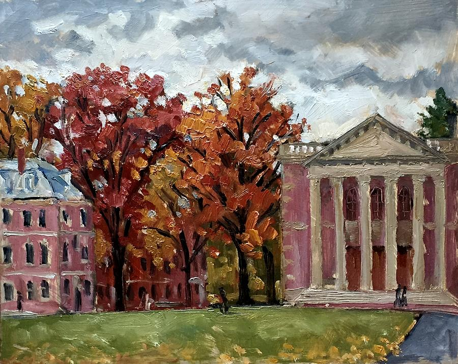 Williams College Rainy Autumn by Thor Wickstrom