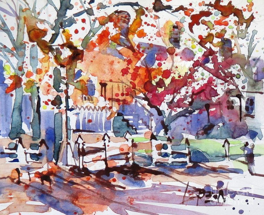 Williamsburg Va Painting - Williamsburg Color by Larry Lerew