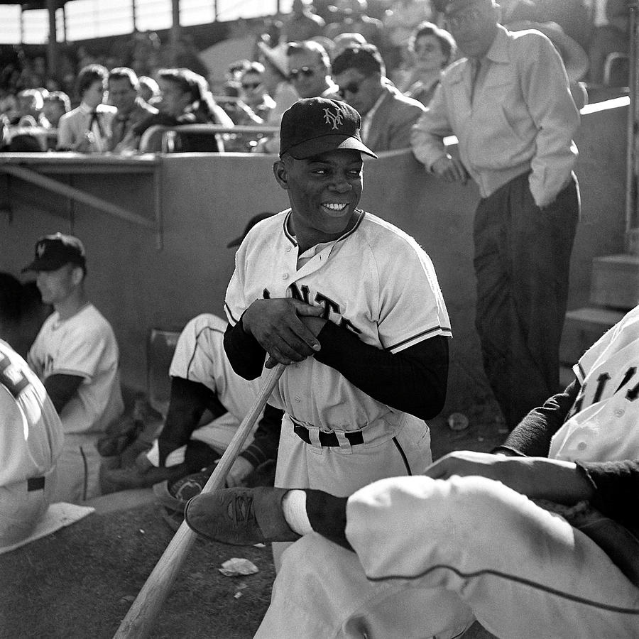 Willie Mays At Spring Training In Photograph by Loomis Dean