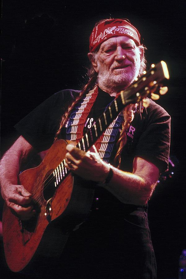 Willie Nelson Live Photograph by Larry Hulst
