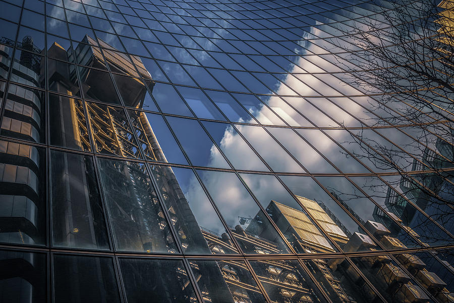 Willis Building Reflections No 3 by Chris Fletcher