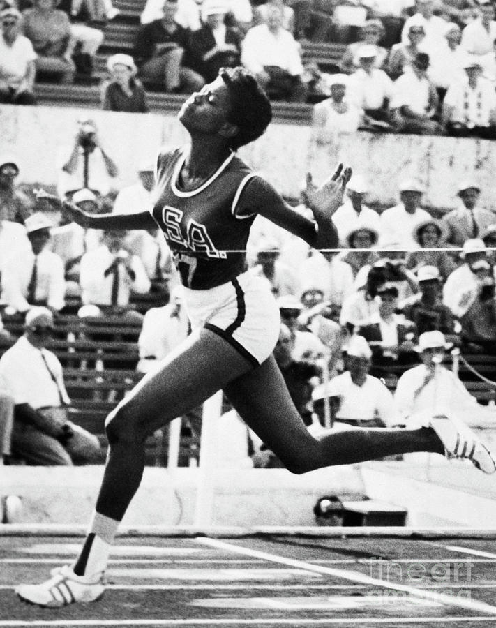 Wilma Rudolph Crossing The Finish Line Photograph by Bettmann