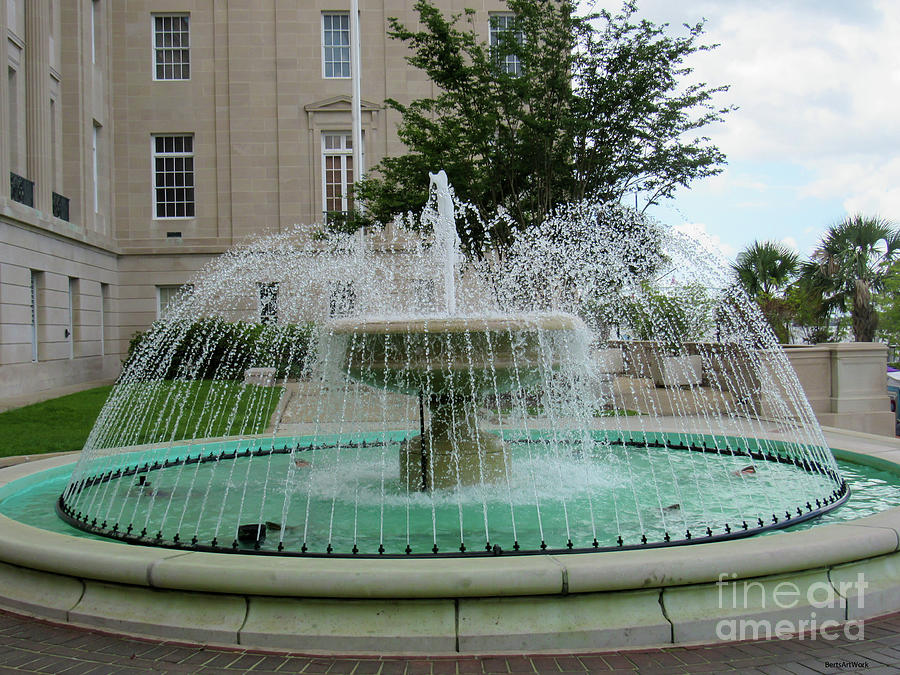 Wilmington NC Fountain at City Hall by Roberta Byram