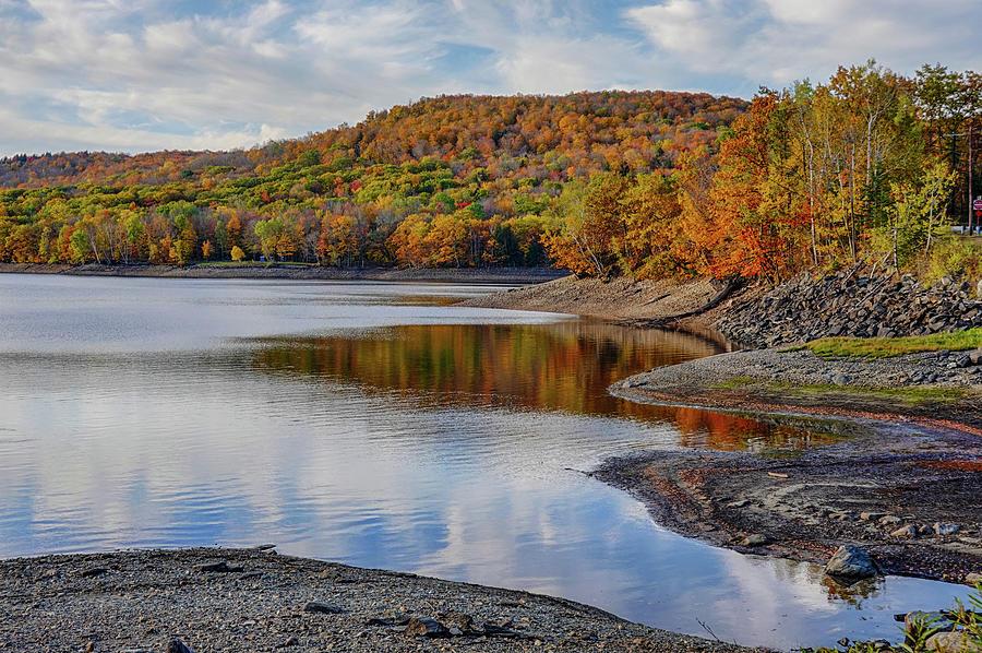 Wilmington VT Harriman Reservoir Fall Foliage Autumn Vermont by Toby McGuire