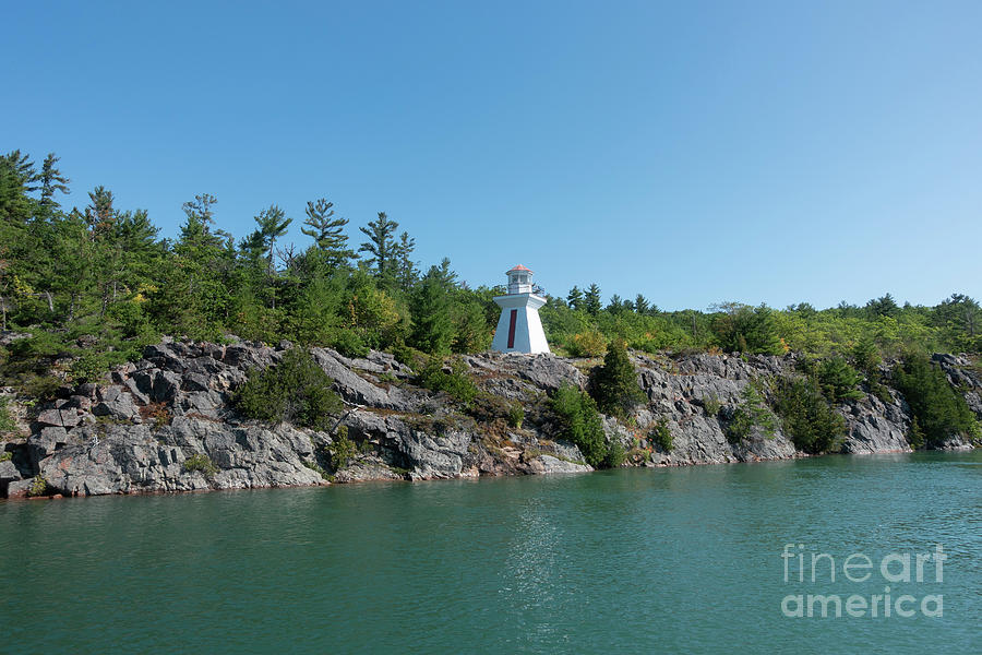 Wilson Channel Range Front Lighthouse Ontario Canada by Louise Heusinkveld