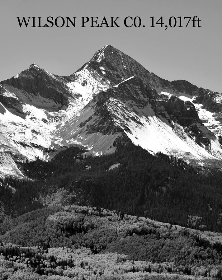 Rocky Mountains Photograph - Wilson Peak Colorado Poster A by David Lee Thompson