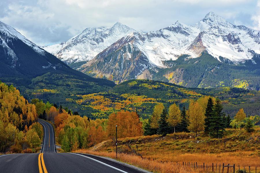 Wilson Peak near Telluride Colorado by John Hoffman